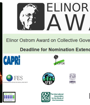Elinor Ostrom Awards 2021 Nomination Deadline extended to 31.03.2021